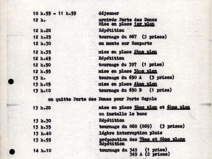 Rapport horaire de Muriel (Alain Resnais)