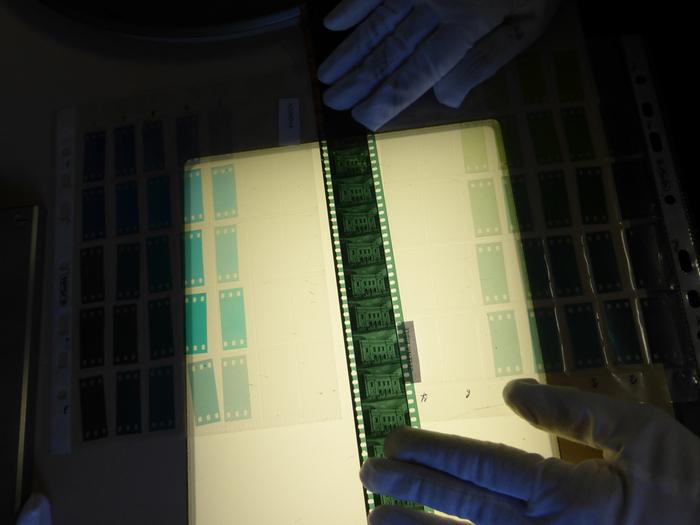 Relevé de teintes d'après le positif nitrate du CNC