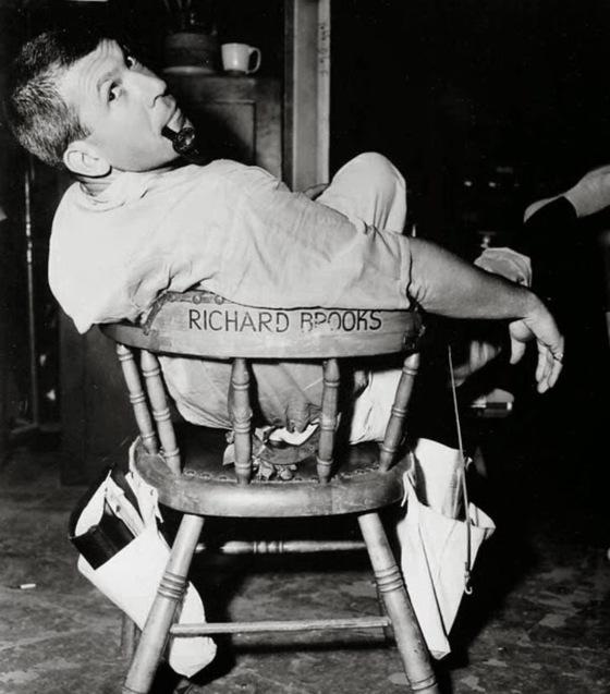 """Richard Brooks sur le plateau de """"De sang-froid"""" (1967)"""