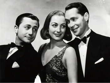 Robert Young, Joan Crawford et Franchot Tone (The Bride Wore Red)
