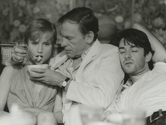 Isabelle Huppert, Jean-Louis Trintignant et Robin Renucci dans Eaux profondes. Photo de plateau © Eléfilm