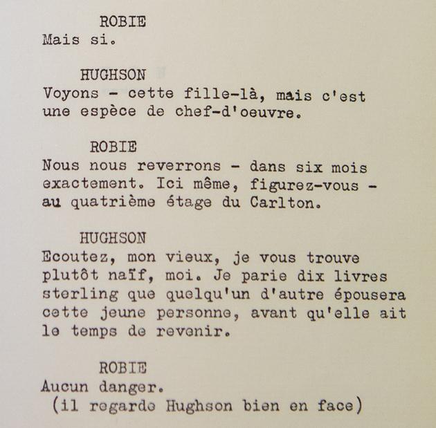 Scénario de tournage de Roland Lesaffre