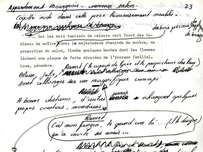 """Scénario de travail """"De la révolte à la révolution"""" (Archives GOUPIL 53 B10 - [Projet """"Oui Mai""""] : """"1969 - scénario - notes"""")"""