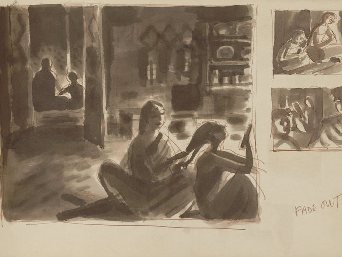 Storyboard de Pather Panchali (Satyajit Ray, 1952)