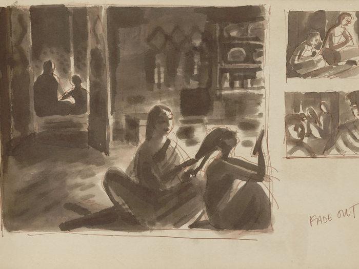 Storyboard de Pather Panchali (Satyajit Ray, 1952)