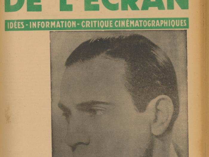 Tino Rossi en couverture de La Revue de l'écran n°411 B du 26 juin 1941