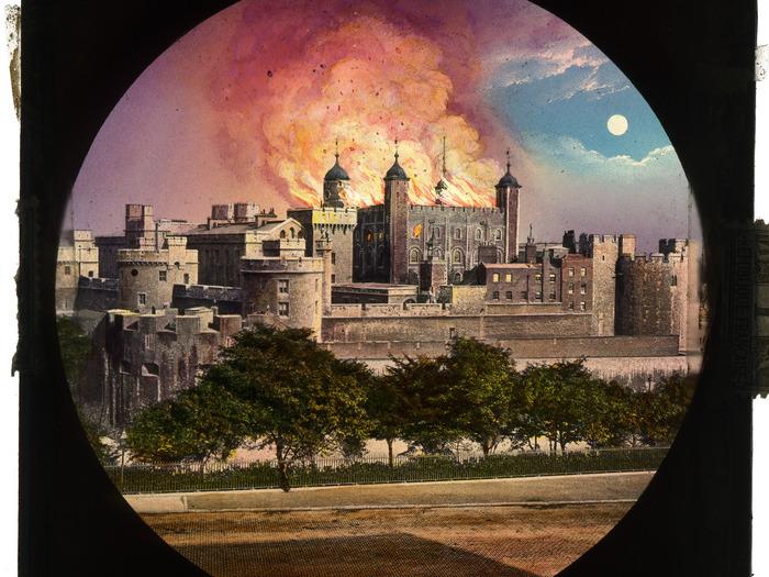 Tour de Londres Incendie.