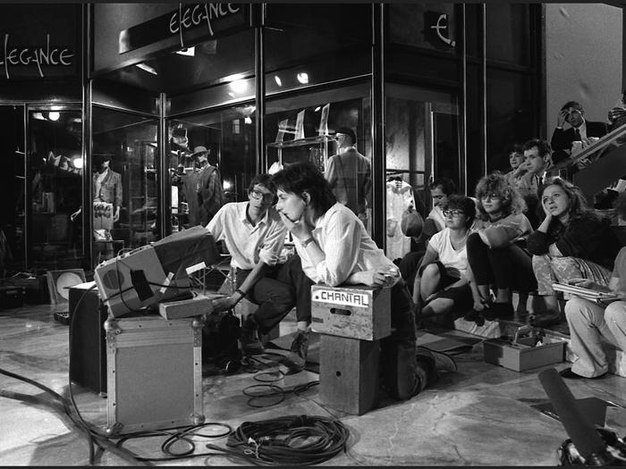 Chantal Akerman sur le tournage de Golden Eighties (photographie © Jean Ber)