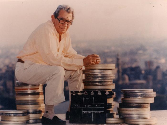 Youssef Chahine sur le tournage du film «Le Destin» (1996)–D.R.