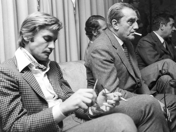 Helmut Berger et Luchino Visconti