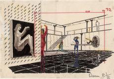 Maquette de décor La Prisonnière