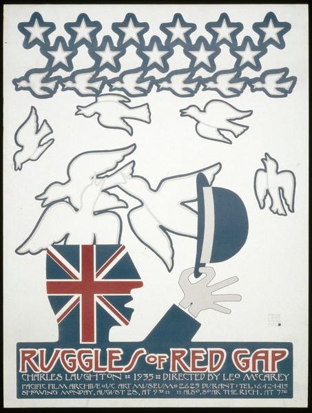 Affiche américaine de « L'Extravagant Mr Ruggles » par David Lance Goines