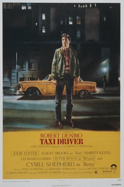 Affiche américaine de Taxi Driver par Guy Peellaert