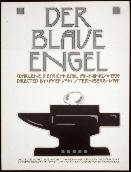 Affiche américaine pour Der Blaue Engel