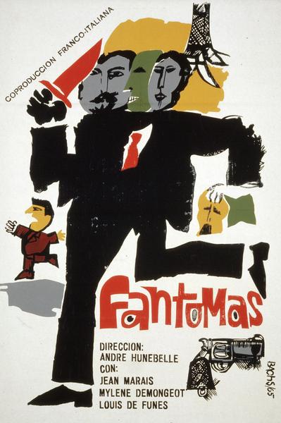 Affiche cubaine de Fantômas d'André Hunebelle