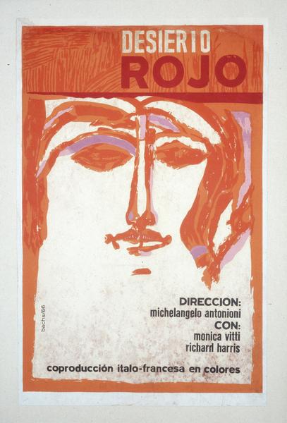 Affiche cubaine du Désert rouge