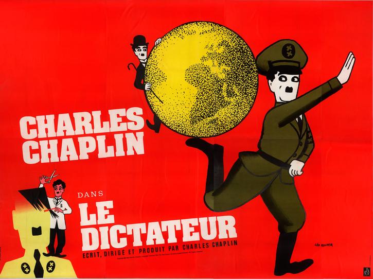 Affiche française pour Le Dictateur