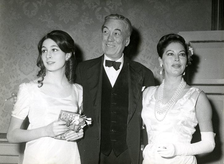 Angelica Huston, John Huston et Ava Gardner par Robert Cohen