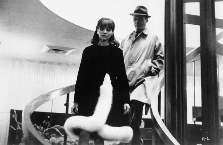 Anna Karina et Eddie Constantine (Alphaville de Jean-Luc Godard)