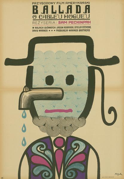 Affiche polonaise d'« Un nommé Cable Hogue »