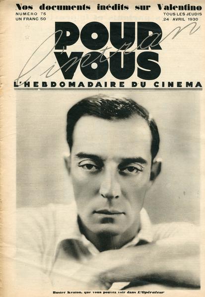 Couverture de la revue Pour Vous du 24 avril 1930