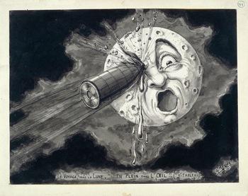 Dessin de Georges Méliès d'après son film Le Voyage dans la Lune