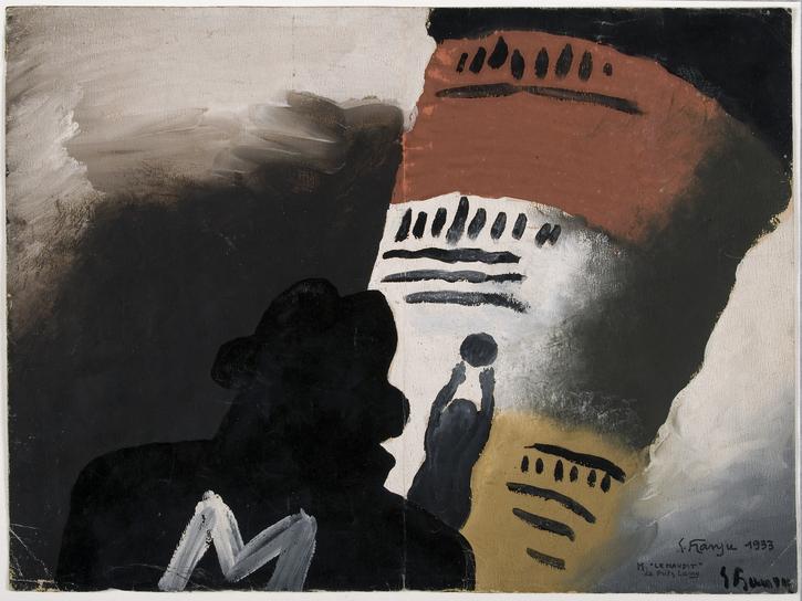 Maquette d'affiche de Georges Franju pour M « le Maudit » (Fritz Lang, 1931)