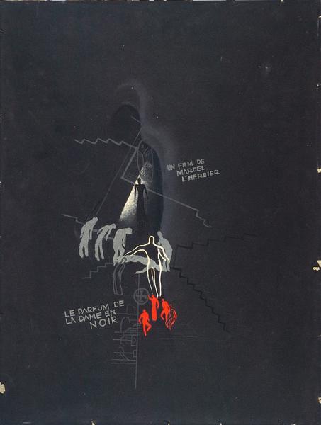 Maquette d'affiche du Parfum de la dame en noir