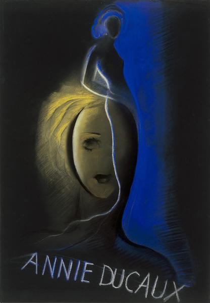 Maquette d'affiche pour Annie Ducaux