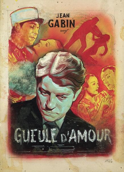 Maquette d'affiche pour Gueule d'amour (Grémillon)