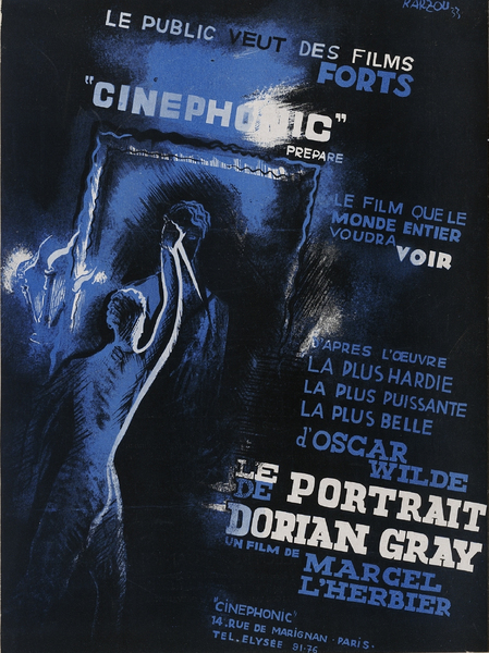 Maquette d'affiche pour Le Portrait de Dorian Gray