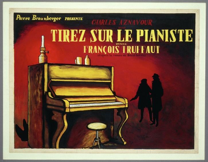 Maquette d'affiche Tirez sur le pianiste