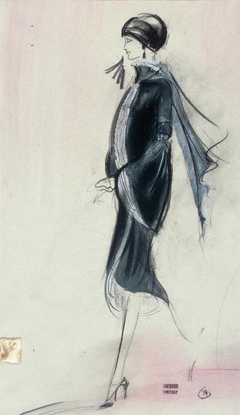Maquette de costume La Banquière