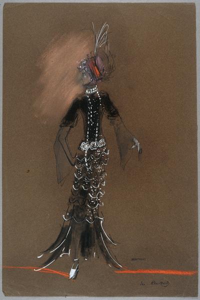 Maquette de costume Le Diable par la queue