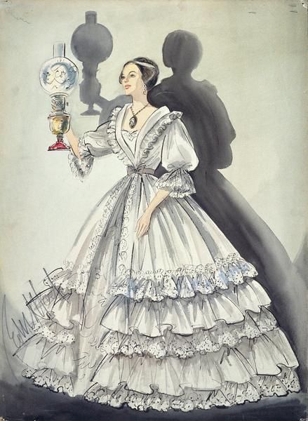 Maquette de costume pour l'Héritière