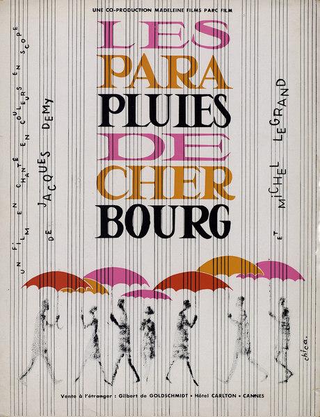 Matériel publicitaire Les Parapluies de Cherbourg (Demy)