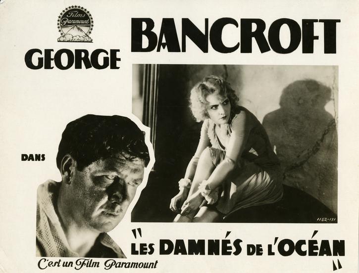 Photographie d'exploitation des « Damnés de l'océan » (Josef von Sternberg, 1928)