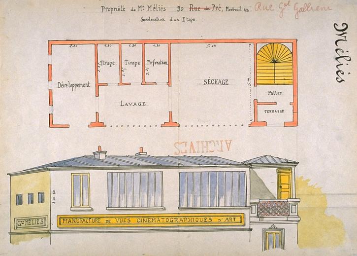 Plan du Studio B Méliès