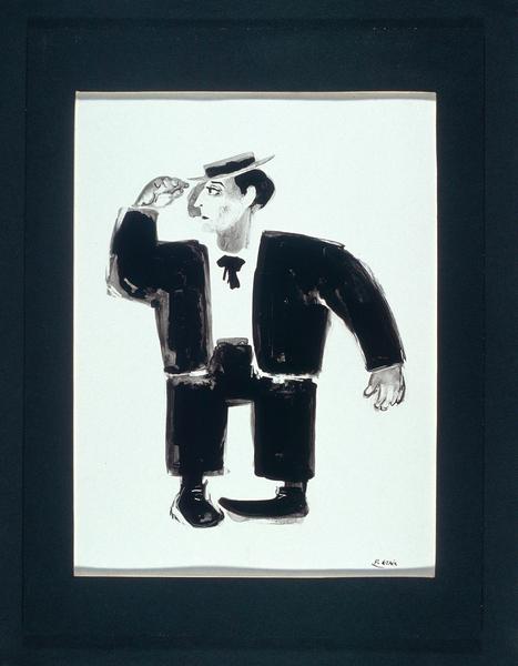 Portait de Buster Keaton par Pierre Etaix
