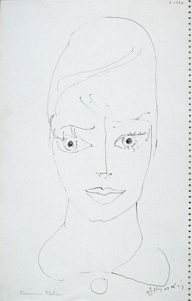 Portrait de Françoise Fabian par Alexandre Hinkis