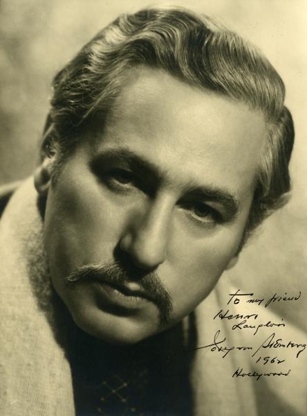 Portrait dédicacé de Sternberg