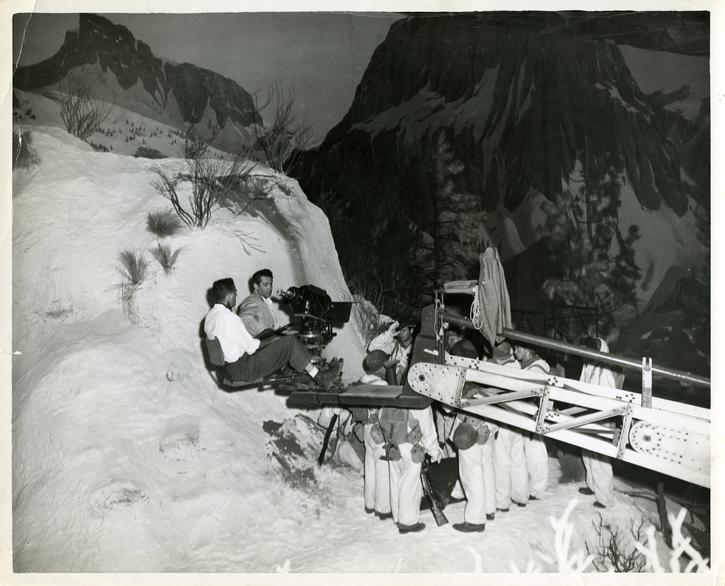 Tournage de Baïonnette au canon (Samuel Fuller, 1951)