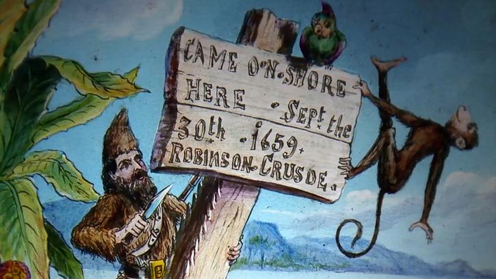 Le Fantôme de Robinson Crusoé. Spectacle de lanterne magique