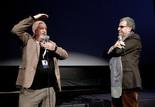 Falstaff : Luciano Berriatua, restaurateur du film (restauration menée par la Filmoteca Española) et Serge Toubiana