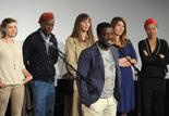 Djinn Carrenard et l'équipe du film FLA