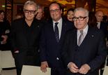Martin Scorsese en compagnie de Harvey Keitel et de François Hollande, Président de la République