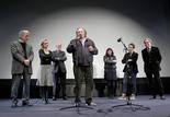 Costa-Gavras ; Sandrine Bonnaire ; Nicolas Seydoux ; Sylvie et Antoine Pialat ; Serge Toubiana et Gérard Depardieu.
