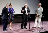 Costa-Gavras, Aurélie Filippetti, ministre de la Culture et de la Communication, Michel Piccoli et Serge Toubiana