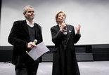 L. Mannoni (directeur scientifique du patrimoine de la Cinémathèque française) et Manuela Padoan (directrice de Gaumont Pathé Archives)