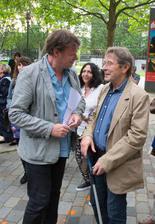 Frédéric Bonnaud et Patrick Grandperret à l'ouverture de la rétrospective qui lui est consacrée